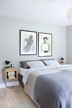 - Hvis jeg fant 10 cm som ikke var i bruk, hadde jeg blitt gal | Bo-bedre.no Scandinavian Interior Bedroom, Tranquil Bedroom, Small Room Bedroom, Headboards For Beds, Minimalist Bedroom, Beautiful Interiors, Home Decor Inspiration, Furniture Design, Interior Design