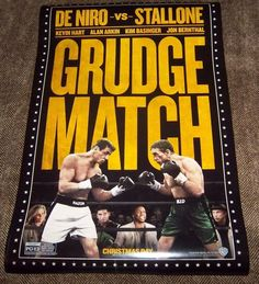 "GRUDGE MATCH Genuine Movie Theater Poster, 27""x 40"" Size, 2 Sided, Fast Shipping"