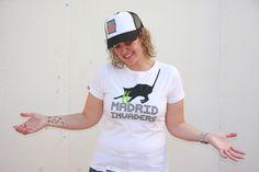 Image of Camiseta INVADERS GATO - Mujer - Blanco
