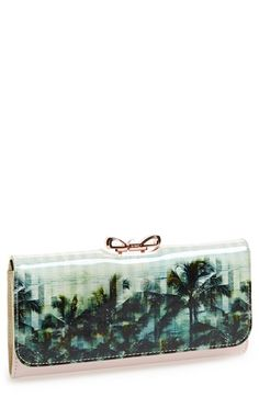 Ted Baker London Palm Tree Print Matinee Wallet  // from @nordstrom