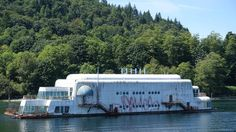 "Canada - The ""McBarge,"" an abandoned floating McDonald's restaurant in Vancouver"