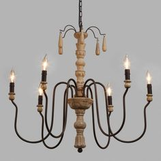 Wood Beaded Corinne Chandelier - v1