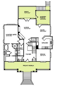 four bedroom beach house plan - 15009nc | 2nd floor master suite