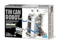 Tin Can Robot! Add one 12 oz. can from the recycling bin, 2 batteries and build a walking robot! Fun Engineering project & under 20 bucks!!