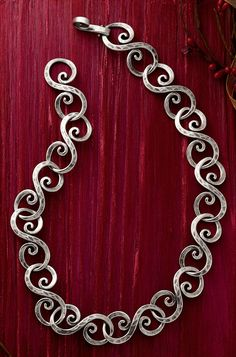 Christmas Collection: Forged Gentle Waves Necklace #JamesAvery