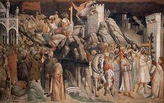 gnolo Gaddi, La Leggenda della Vera Croce, Decapitazione di Cosroe e entrata di Eraclio in Gerusalemme, Cappella Maggiore, Basilica di Santa Croce, Firenze