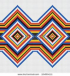 Traditional Native American pattern, vector