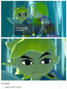 Oh, Link. XD, finished WW yesterday! Yay, I just realised im playing WW, ST, LBW and ST at the same time!