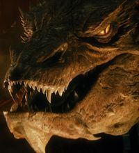 """The talking dragon Smaug (performed by Benedict Cumberbatch) presented design challenges in """"The Hobbit: The Desolation of Smaug."""""""