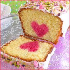 Cake coeur caché spécial Fête des mères - A l'occasion de la fête des mères je vous ai concocté une petite recette simple mais qui fait son effet : un ...