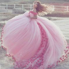 pink rose gown #prom