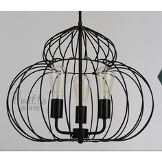 $122.50 / piece Fixture Width: 50 cm (20 inch) Fixture Length : 50 cm (20 inch) Fixture Height:40 cm (16 inch) Chain/Cord Length : 50 cm (20 inch) Color : black Materials:iron