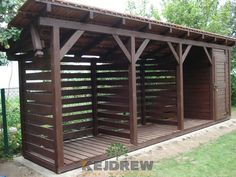 Take a look at our page for lots more on the subject of this superb enclosed gazebo Wood Storage Sheds, Backyard Storage, Storage Shed Plans, Backyard Sheds, Backyard Landscaping, Outdoor Firewood Rack, Firewood Shed, Firewood Storage, Flat Roof Shed