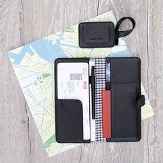 Travel Organizer & Luggage Tag Black - LOST & FOUND accessoires