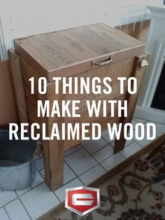 Put that pile of old wood in the back of your garage to good use with these reclaimed wood projects.