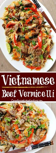 Vietnamese Beef Vermicelli recipe on the blog now!! #Vietnamese #Beef #Vermicelli #rice #noodles #lime #chili