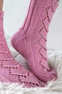 Knitted sock pattern - Maariat by Niina Laitinen - Ravelry. Lace Socks, Crochet Socks, Knitted Slippers, Knit Or Crochet, Knit Socks, Knitting Videos, Loom Knitting, Knitting Socks, Bed Socks