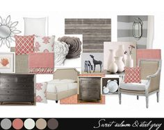 Bedroom color pallette salmon grey & other 10 Refreshing Bedroom Colour Schemes