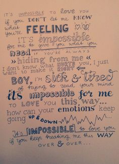 Lyrics to 'Impossible' - Christina Aguilera ft Alicia Keys. I can relate to these lyrics