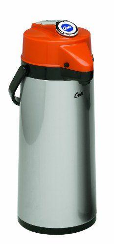 Wilbur Curtis Thermal Dispenser Air Pot, 2.2L S.S. Body Glass Liner Lever Pump, Decaf - Commercial Airpot Pourpot Beverage Dispenser - TLXA2201G000D (Each) - Commute Coffee Coffee Machine, Coffee Maker, Commercial Espresso Machine, Drink Dispenser, Coffee Dispenser, Pots, Decaf Coffee, Self Serve, Liner