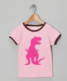 {Pink & Chocolate T-Rex Tee - Toddler & Girls by Jusami}