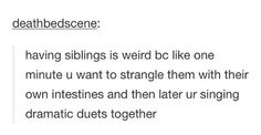 Anyone with siblings should be able to relate to this