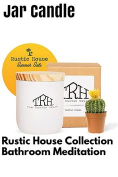 (This is an affiliate pin) The Rustic House Soy Wax Candles with Glass Candle Base and Lid, Spring Collection Home Candle, Bathroom Candles, Meditation Candle, Kitchen Candle, or Wedding Day Candle, 8oz (Cactus Bloom) Bathroom Candles, Kitchen Candles, Home Candles, Glass Candle, Candle Jars, Rustic Candles, Soy Wax Candles, Summer Collection, Cactus