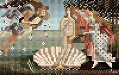 Pixel art (masterpiece series)-The Birth of Venus on Behance