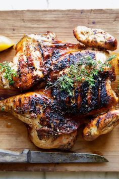 Grilled and spicy in all the best ways. Best Chicken Recipes, Spicy Recipes, Cooking Recipes, Spicy Grilled Chicken, Lemon Chicken, Winner Winner Chicken Dinner, Food 52, Aesthetic Food, Poultry