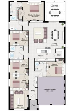 Click To View Floorplan House Layout Plans House Design Dream House Plans