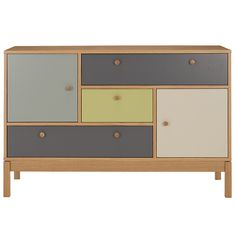 Buy Leonhard Pfeifer for John Lewis Abbeywood 2 Door, 3 Drawer Chest from our View All Design range at John Lewis & Partners. Oak Sideboard, Sideboard Furniture, Modern Sideboard, Retro Furniture, Painted Furniture, Furniture Design, Painted Dressers, 3 Drawer Chest, Interior Design Magazine