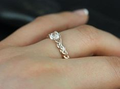 Outstanding three strand wedding ring also astonishing solitaire micropave braided diamond band engagement ring in with