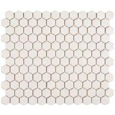 hex tile, shower floor