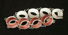 Andresen & Scheinpflug Vintage Norwegian Sterling Silver and Enamel Bracelet