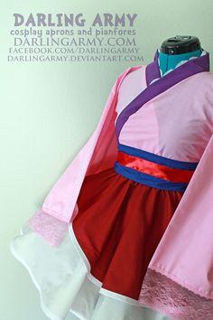Mulan Cosplay Lolita Kimono Dress by DarlingArmy.deviantart.com on @DeviantArt