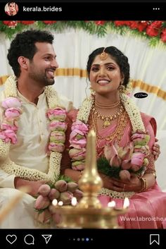 Flower Garland Wedding, Flower Garlands, Indian Wedding Theme, Sarees, Marriage, Hairstyle, Flowers, Valentines Day Weddings, Hair Job