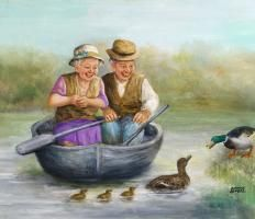 Giclee Print: Elderly Couple by Dianne Dengel : Couple Painting, Couple Art, Awsome Pictures, Beautiful Pictures, Unbelievable Pictures, Abraham And Sarah, Older Couples, Growing Old Together, Old Folks