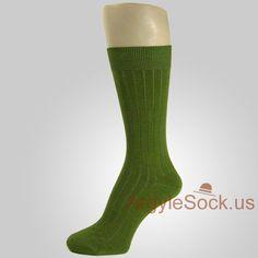 Men's Socks | Men's dress socks with vertical texture is 85% cotton