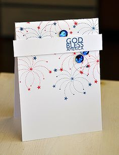 God Bless America Card by Maile Belles for Papertrey Ink (May 2013)