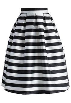 Iconic Striped Midi Skirt - Retro, Indie and Unique Fashion