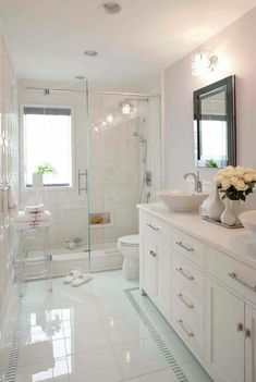Best Bathroom Renovation Ideas Attractive bathroom remodel as well as full transformation to this desire bathroom! Washroom Remodelling Ideas: bathroom remodel price, restroom ideas for tiny washrooms, little bathroom layout ideas. Bathroom Design Luxury, Bathroom Design Small, Bathroom Layout, Dyi Bathroom, Bathroom Furniture, Bathroom Designs, Washroom, Small Master Bathroom Ideas, Bathroom Mirrors