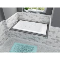 American Standard EverClean 5 ft. x 32 in. Reversible Drain Whirlpool Tub in White 2422LC.020 at The Home Depot - Mobile