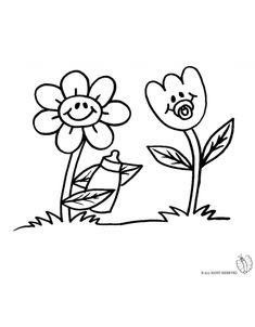 Disegno di fiori da colorare