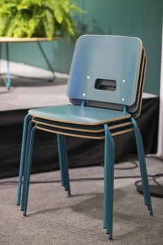 Grip NxT chairs designed by Mikko Halonen. Grip NxT is the updated version of the popular Grip series. Both its look and its laminate colour scheme have been refreshed.