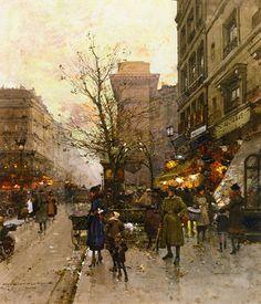 La Porte Saint Denis, Paris, Eugene Galien-Laloue. French (1854-1941)