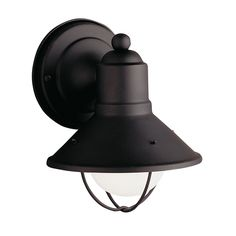 Kichler Lighting Nautical Outdoor Wall Light in Black Finish - 7-1/4-Inches Tall | 9021BK | Destination Lighting