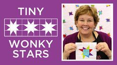 Did you know you can make a tiny wonky stars quilt block with strips cut into squares? See how easy it is to make the Tiny Wonky Stars Quilt Block with. Star Quilt Blocks, Star Quilt Patterns, Star Quilts, Easy Quilts, Block Patterns, Scrappy Quilts, Mini Quilts, Jenny Doan Tutorials, Msqc Tutorials