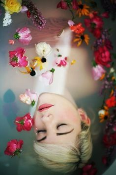 Using flowers are great for baths. Asians believe flowers are the tangible link to the forces of the spiritual world. It symbolizes the purge of earthly impurities. It is usually offered as the finale after body treatments.