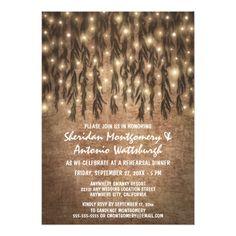Backyard Wedding Rehearsal Dinner Weeping Willow Tree Rehearsal Dinner Invitations