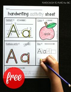 Free Handwriting Activity Pages - Playdough To Plato